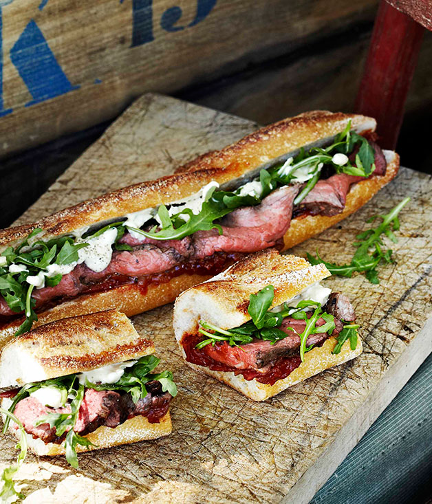 Delicious gourmet baguettes for picnics