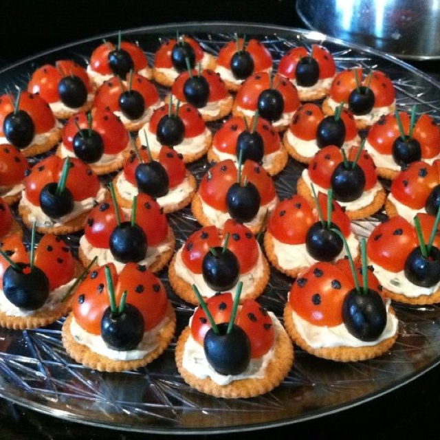 Kids Party Platter Ladybird Tomato and Olive Platter